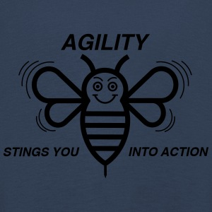 AGILITY STINGS YOU INTO ACTION - Kinder Premium Langarmshirt