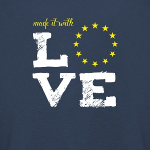 made it with love EU europe baby birth taufe star - Kinder Premium Langarmshirt