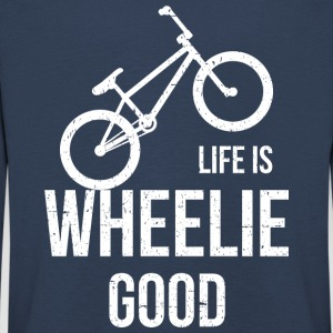 Life Is Good Wheelie - Kinderen Premium shirt met lange mouwen