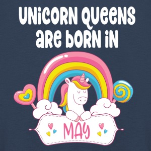 Unicorn Queens are born in May - Kinder Premium Langarmshirt
