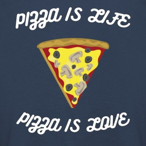 ♥ Pizza is Life ♥ Pizza is Love ♥ Fun T-Shirt - Kinder Premium Langarmshirt
