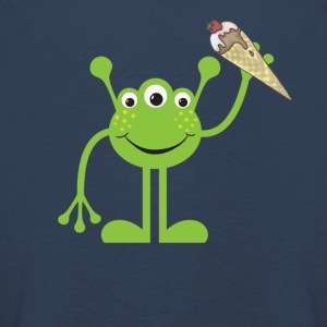 The sweet alien wants to share its strawberry ice cream - Kids' Premium Longsleeve Shirt