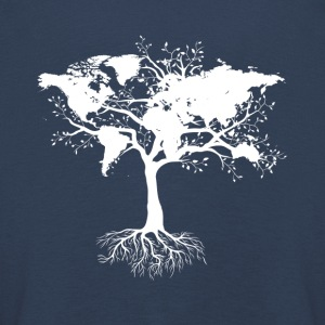 Tree with world map - Kids' Premium Longsleeve Shirt