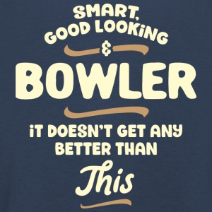 Smart, good looking and BOWLER ... - Kids' Premium Longsleeve Shirt