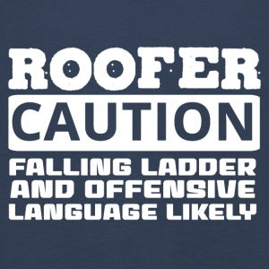 Roofing: Roofer. Caution. Falling Ladder And - Kids' Premium Longsleeve Shirt