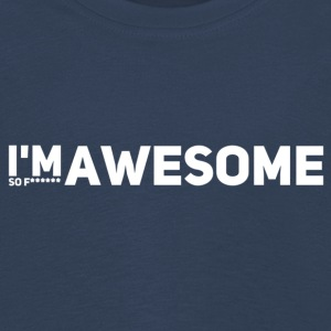 i'm so f* awesome weiss - Kinder Premium Langarmshirt