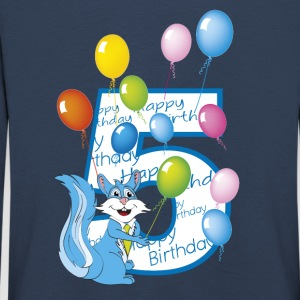 Fifth birthday 5 years squirrel - Kids' Premium Longsleeve Shirt
