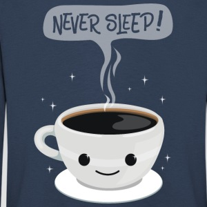 Never Sleep - kaffee - Kinder Premium Langarmshirt