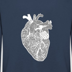Heart, x-ray, Zentangle - Kids' Premium Longsleeve Shirt