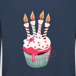 Cupcake with four candles - Kids' Premium Longsleeve Shirt