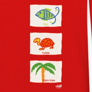 Fish, turtle, palm tree: vacation beach leisure - Kids' Premium Longsleeve Shirt