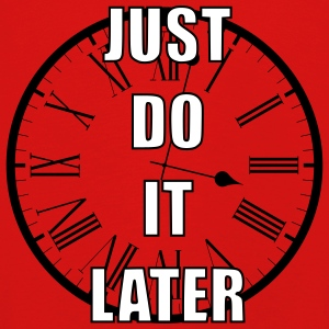 Just do it later - Kinderen Premium shirt met lange mouwen