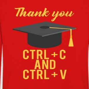High School / Graduation: Thank you CTRL + C and CTRL - Kids' Premium Longsleeve Shirt