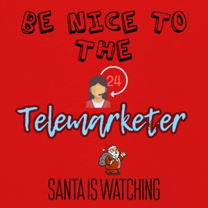Be nice to the telemarketer Santa is watching - Kids' Premium Longsleeve Shirt