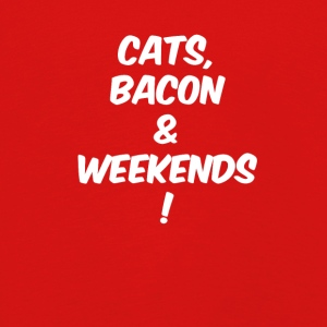 katten bacon weekends wit - Kinderen Premium shirt met lange mouwen