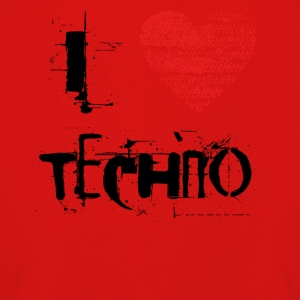 I love techno rave goa hardtek black - Kids' Premium Longsleeve Shirt