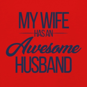 Hochzeit / Heirat: My Wife has an awesome Husband - Kinder Premium Langarmshirt