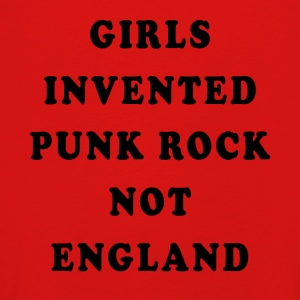 Girls Invented Punk Rock Not England - Camiseta de manga larga premium niño