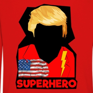 Super Donald / Orange Trump Tear-rivning - Långärmad premium-T-shirt barn
