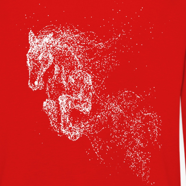 Vorschau: jumping horse white - Kinder Premium Langarmshirt