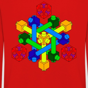 Optical Illusion Design - Kids' Premium Longsleeve Shirt