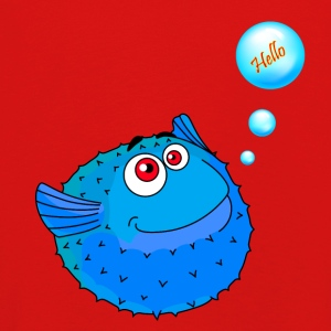 Cute Blue Puffer Fish - Kids' Premium Longsleeve Shirt