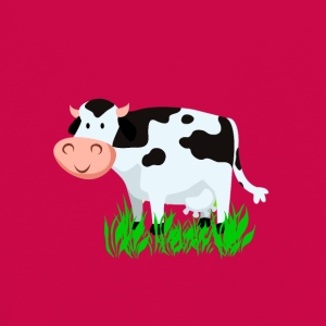 Vector Cartoon Cow - Kinderen Premium shirt met lange mouwen