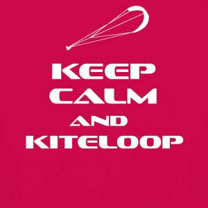 Kitesurfing - Keep Calm and kiteloop - Premium langermet T-skjorte for barn
