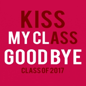 Videregående / Graduation: Kiss Ass - Kiss my Class - Premium langermet T-skjorte for barn