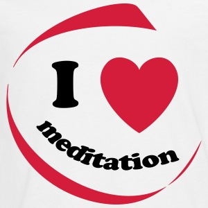 I love meditation - Teenagers' Premium Longsleeve Shirt