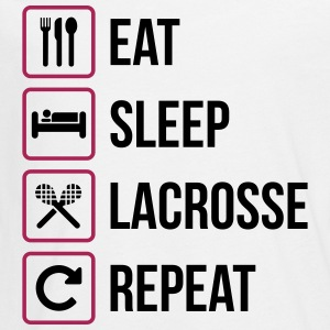 Eat Sleep Lacrosse Gentag - Teenager premium T-shirt med lange ærmer