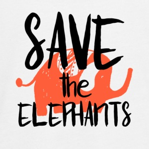 Save the Elephants - Teenagers' Premium Longsleeve Shirt