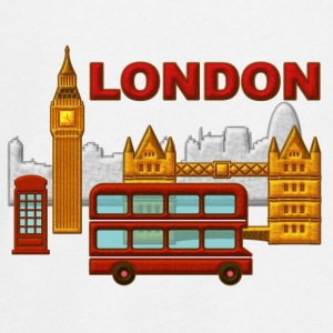 Londres, London, Inglaterra, recuerdo - T-shirt manches longues Premium Ado