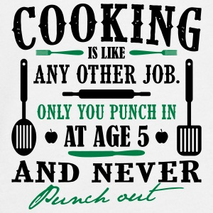 Cooking is like any job - cook - Teenagers' Premium Longsleeve Shirt