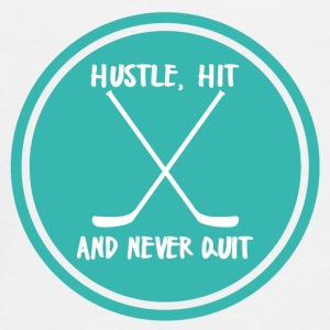 Hockey: Hustle, Hit and never quit. - Teenagers' Premium Longsleeve Shirt