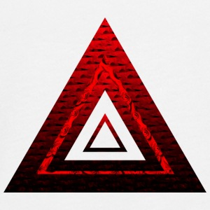 Red Ruby Rose Pyramid - Teenager premium T-shirt med lange ærmer