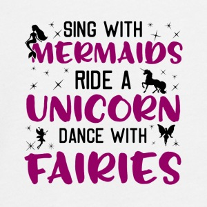 Zing Met Mermaids Ride A Unicorn Dance Fairies - Teenager Premium shirt met lange mouwen