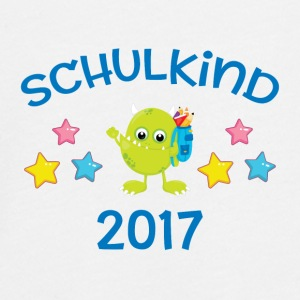 Schulkind 2017 - Monster - Teenager Premium Langarmshirt