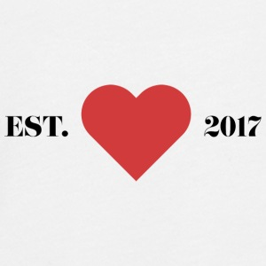 """Established 2017"" with heart. - Teenagers' Premium Longsleeve Shirt"