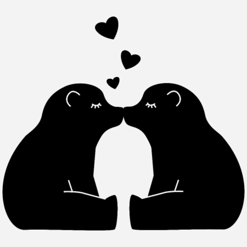 Zwei küssende Bären - Teenager Premium Langarmshirt
