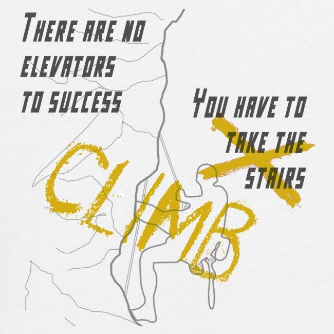 There are no elevators to success, climb