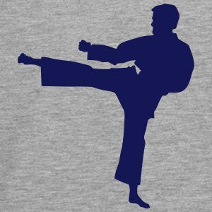 Karate Fighter Silhouette 7 - Teenager premium T-shirt med lange ærmer