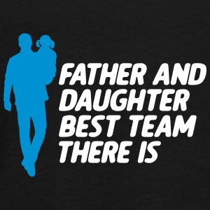 Father And Daughter Best Team vatertag - Teenager Premium Langarmshirt