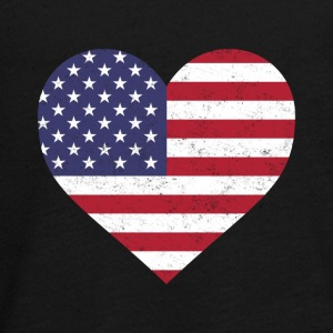USA Flag Shirt Heart - American Shirt - Teenagers' Premium Longsleeve Shirt