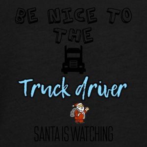 Be nice to the truck driver Santa is watching - Teenagers' Premium Longsleeve Shirt