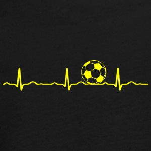 ECG HEARTBEAT le football jaune - T-shirt manches longues Premium Ado