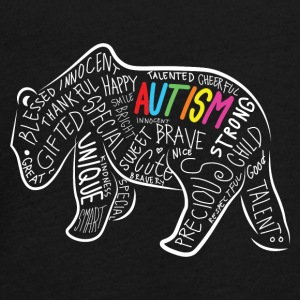 Papa Bear Autism Awareness Geburtstag Shirt - Teenager Premium Langarmshirt
