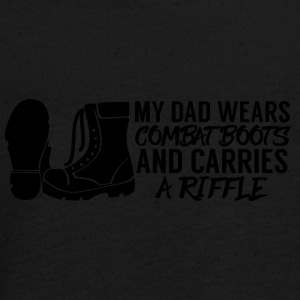Military / Soldiers: My Dad Wears Combat Boots And - Teenagers' Premium Longsleeve Shirt