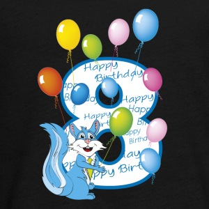 8th year squirrel birthday - Teenagers' Premium Longsleeve Shirt