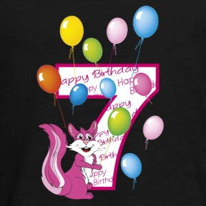 Seventh birthday 7 years pink squirrel - Teenagers' Premium Longsleeve Shirt